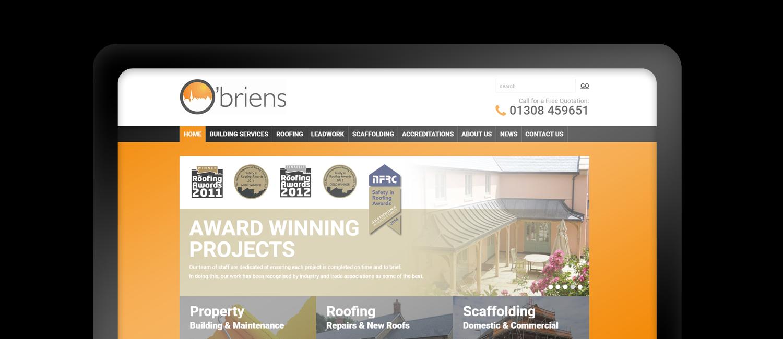 Obrien Roofing website